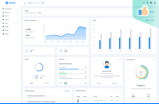 Orbiter – Bootstrap Free Admin Template