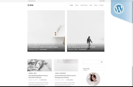 Vetus – Blog and WooCommerce WordPress Theme