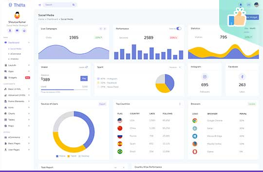Theta – Bootstrap Free Admin Template